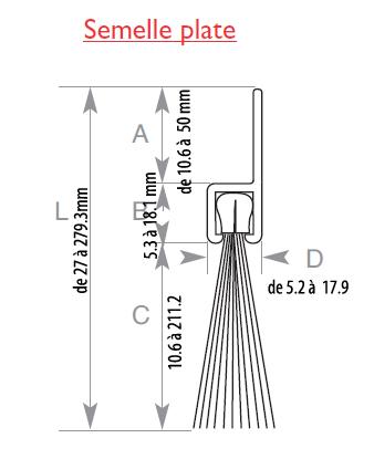 joint brosse pour porte porte coulissante techni contact. Black Bedroom Furniture Sets. Home Design Ideas