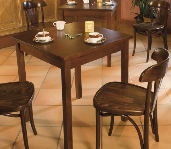 Table De Restaurant En Bois - Table bois café restaurant Table bois café hotel restaurant Techni Contact