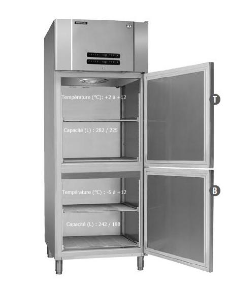armoire bi temp rature inoxydable cong lateur boucherie techni contact. Black Bedroom Furniture Sets. Home Design Ideas