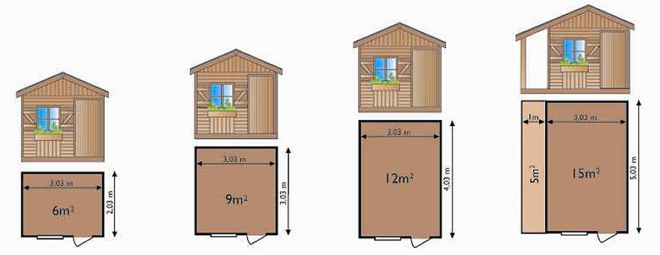 Abri de jardin en bois x m tres abri jardin bois techni contact for Abri de jardin avec auvent