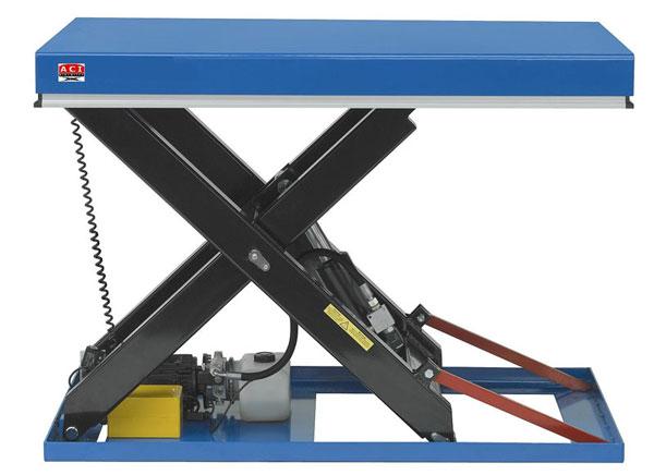 Table elevatrice simple ciseaux table poste de travail for Table elevatrice a ciseaux