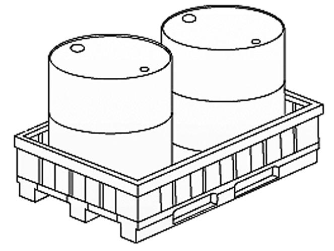 Bac de r tention pour palette bac de r tention plastique - Dimensions d une palette europe ...