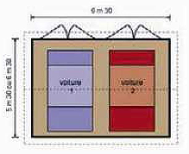 Dimensions standard porte de garage good dimension de for Taille porte de garage