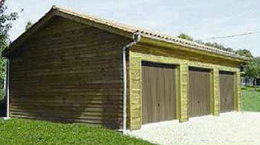 Abri de voiture m tres garage en bois techni contact for Garage exterieur voiture