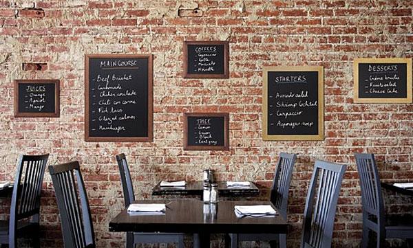 Ardoise menu murale rectangulaire ardoises murales techni contact - Grande ardoise murale restaurant ...