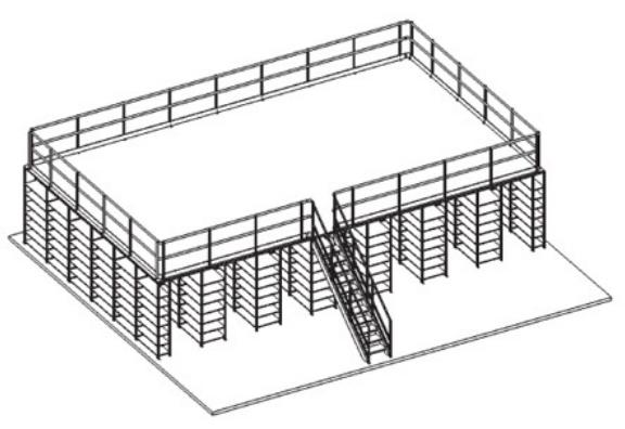 plateforme industrielle sur rayonnage rangement industriel techni contact. Black Bedroom Furniture Sets. Home Design Ideas