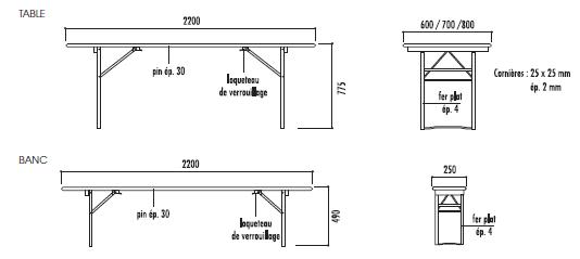 table et banc collectivit table banc pliable et empilable techni contact. Black Bedroom Furniture Sets. Home Design Ideas
