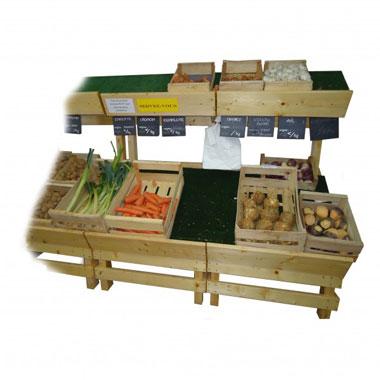 pr sentoir simple face pour fruits et l gumes meuble. Black Bedroom Furniture Sets. Home Design Ideas