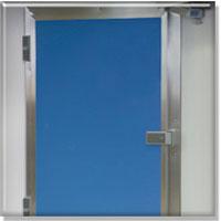 Porte isotherme pivotante pour chambres froides porte for Porte isotherme interieur
