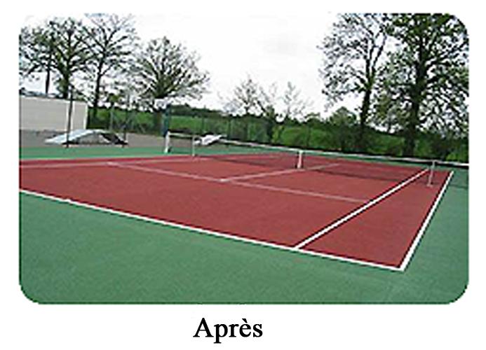 dimensions terrain de tennis maison design