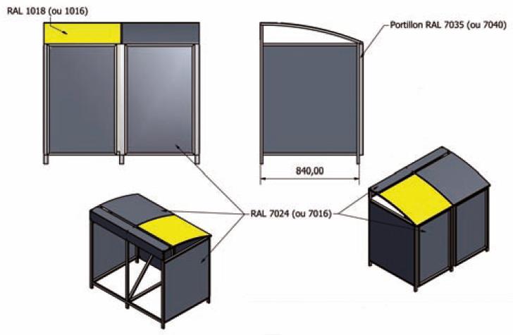 abri conteneur en aluminium abri poubelle techni contact. Black Bedroom Furniture Sets. Home Design Ideas
