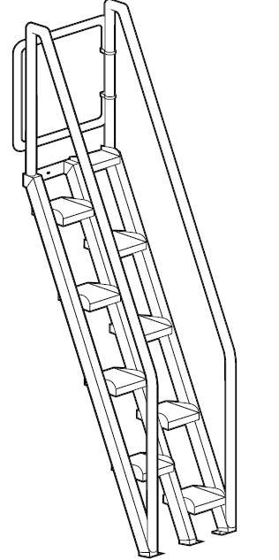 escalier ergonomique en inox escalier escamotable. Black Bedroom Furniture Sets. Home Design Ideas