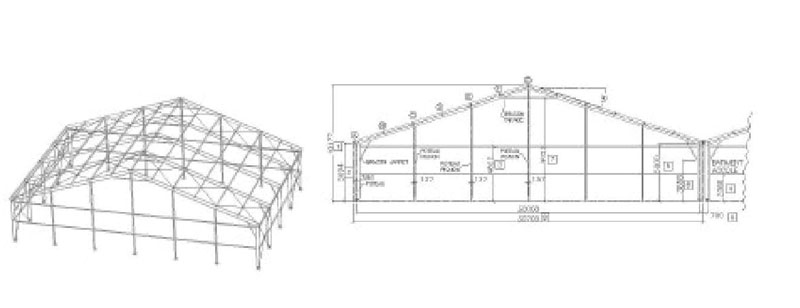 B timents de stockage modulable b timent industriel for Plan de batiment agricole