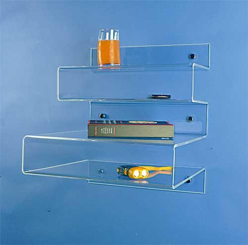 Table De Nuit Plexiglas table de chevet murale plexi - meuble rangement de bureau - techni
