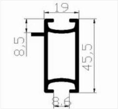 Profil en aluminium pour stand modulaire et vitrine for Stand modulaire aluminium