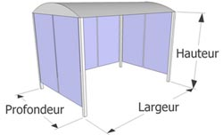 ancrage au sol par chevilles b ton options panneau avant banc. Black Bedroom Furniture Sets. Home Design Ideas