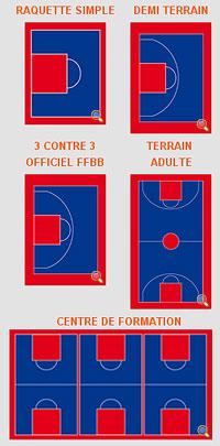 Dalle plastique pour terrain de basketball rev tement en for Basketball en chaise roulante