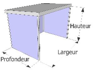 Garage m tallique d montable garage m tallique techni for Garage tunnel metallique