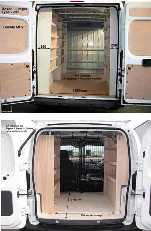 Habillage fourgon utilitaire peugeot boxer meubles pour for Habillage interieur fourgon