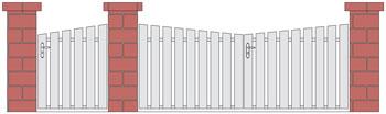 G che lectrique cr maill re pour coulissant prolongateur for Portail coulissant hauteur 1m20