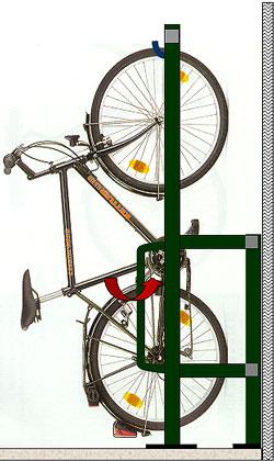Support v lo mural vertical 6 10 places arceaux antivol pour v los tech - Fabriquer support velo ...