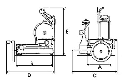 E 740 mm - Machine a couper le jambon manuelle ...