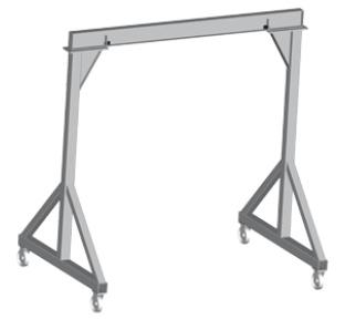 portique de levage sur roues pivotantes portique pour. Black Bedroom Furniture Sets. Home Design Ideas