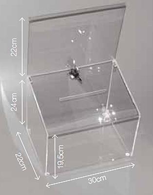 Urne transparente bo te transparente techni contact - Boite qui ferme a clef ...